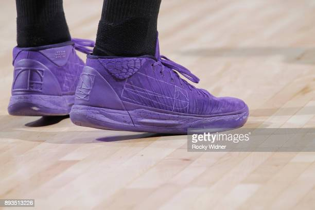 The sneakers belonging to Bogdan Bogdanovic of the Sacramento Kings in a game against the Toronto Raptors on December 10 2017 at Golden 1 Center in...