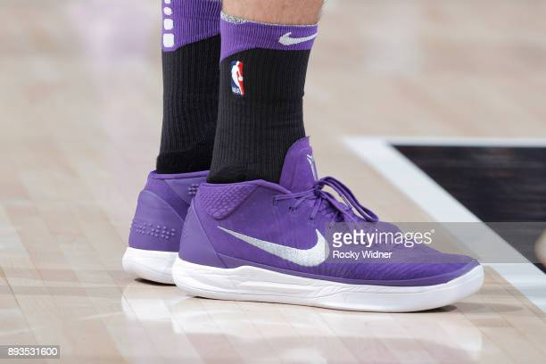 The sneakers belonging to Bogdan Bogdanovic of the Sacramento Kings in a game against the Phoenix Suns on December 12 2017 at Golden 1 Center in...
