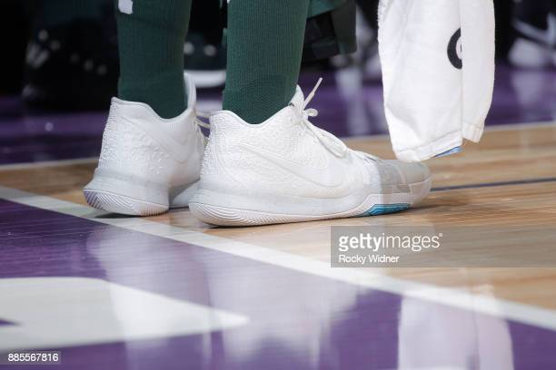 The sneakers belonging to Jason Terry of the Milwaukee Bucks in a game against the Sacramento Kings on November 28 2017 at Golden 1 Center in...
