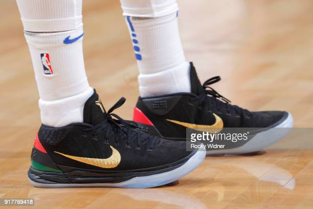 The Sneakers belonging to JJ Barea of the Dallas Mavericks in a game against the Sacramento Kings on February 3 2018 at Golden 1 Center in Sacramento...
