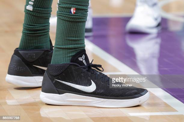 The sneakers belonging to John Henson of the Milwaukee Bucks in a game against the Sacramento Kings on November 28 2017 at Golden 1 Center in...