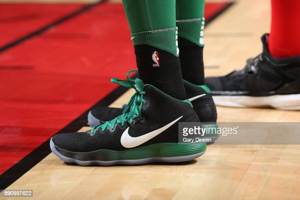 The sneakers of Al Horford of the Boston Celtics during the game against the Chicago Bulls on December 11 2017 at the United Center in Chicago...