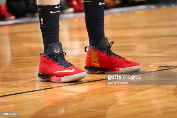6e91391c0a9b The sneakers of Anthony Davis of the New Orleans Pelicans are seen during  the game against