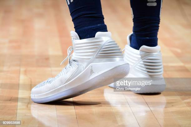 The sneakers of Blake Griffin of the Detroit Pistons seen during the game against the Chicago Bulls on March 9 2018 at Little Caesars Arena in...