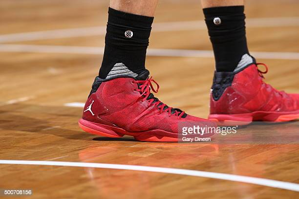The sneakers of Blake Griffin of the Los Angeles Clippers during the game against the Milwaukee Bucks on December 9 2015 at the BMO Harris Bradley...
