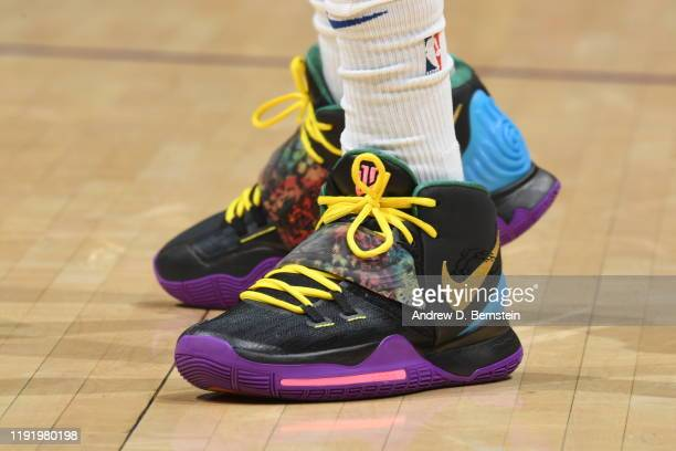 The sneakers of Bruce Brown of the Detroit Pistons during the game against the Los Angeles Lakers on January 5 2020 at STAPLES Center in Los Angeles...