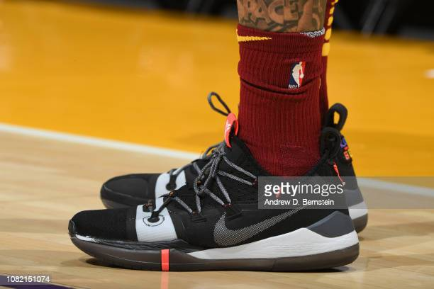The sneakers of Cameron Payne of the Cleveland Cavaliers are worn during a game against the Los Angeles Lakers on January 13 2019 at STAPLES Center...