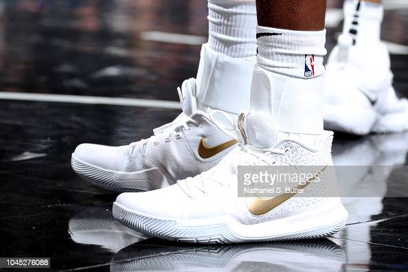 The Sneakers Of Caris Levert Of The Brooklyn Nets Are Seen Against News Photo Getty Images