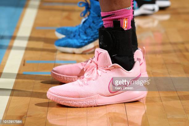 The sneakers of center Alaina Coates of the Chicago Sky as seen during the game against the Minnesota Lynx on August 7 2018 at the Wintrust Arena in...