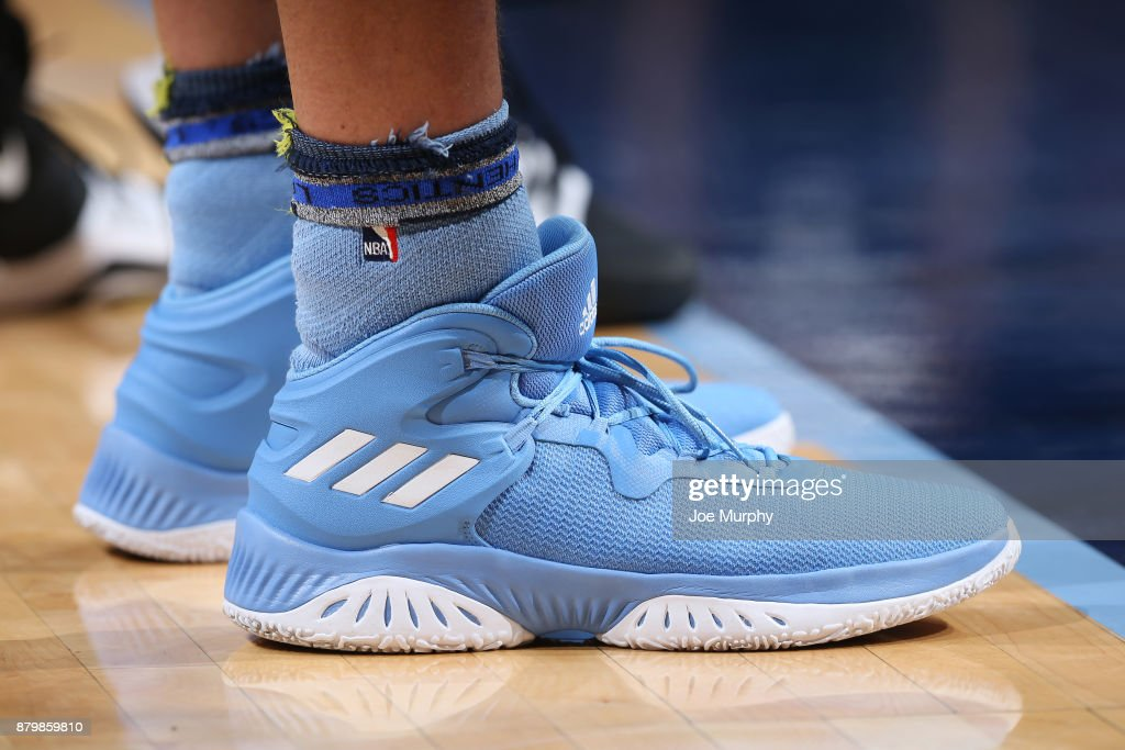 The sneakers of Chandler Parsons #25 of the Memphis Grizzlies are seen during the game against the Brooklyn Nets on November 26, 2017 at FedExForum in Memphis, Tennessee.