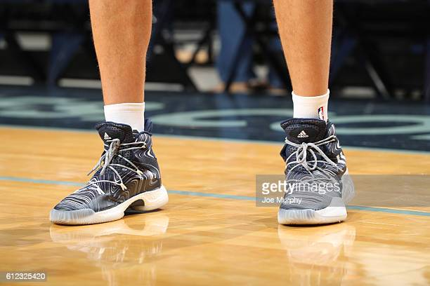 The sneakers of Chandler Parsons of the Memphis Grizzlies before the game against the Orlando Magic during a preseason game on October 3 2016 at...