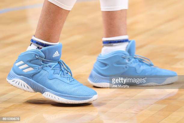 The sneakers of Chandler Parsons of the Memphis Grizzlies during the game against the Miami Heat on December 11 2017 at FedExForum in Memphis...