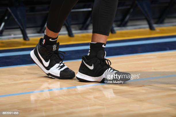 The sneakers of Danny Green of the San Antonio Spurs are seen before the game against the Memphis Grizzlies on December 1 2017 at FedExForum in...