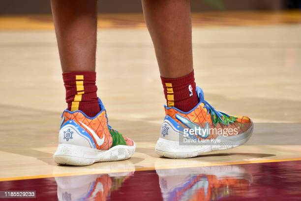 The sneakers of Darius Garland of the Cleveland Cavaliers during a game against the Milwaukee Bucks on November 29 2019 at Rocket Mortgage FieldHouse...