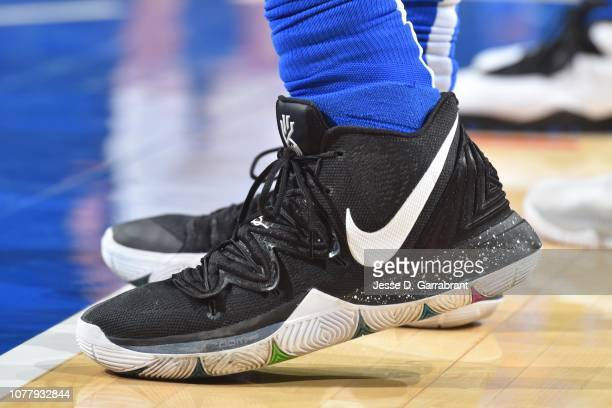 5b3e701d9d51df The sneakers of DeAndre Jordan of the Dallas Mavericks are worn during a  game against the
