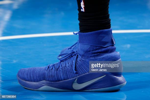 57f9a25383fc02 The sneakers of DeAndre Jordan of the Los Angeles Clippers during the game  against the Los