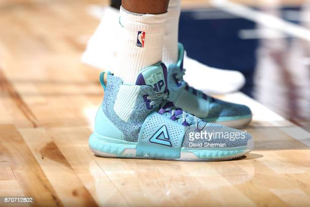 The sneakers of Dwight Howard of the Charlotte Hornets are seen during the game against the Minnesota Timberwolves on November 5 2017 at Target...
