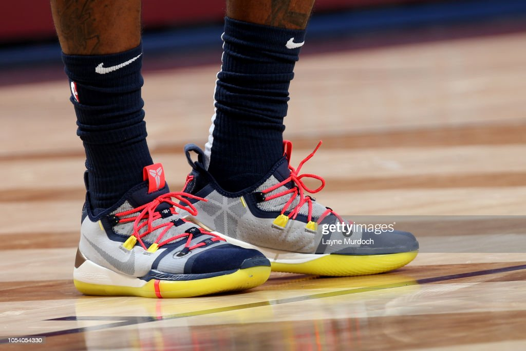 The Sneakers Of Elfrid Payton Of The New Orleans Pelicans Are Seen