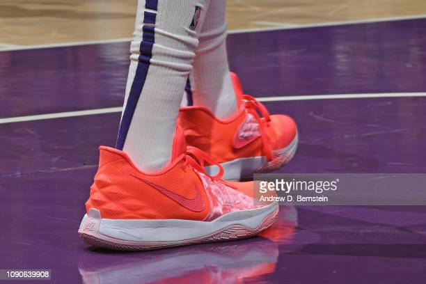 The sneakers of Emanuel Terry of the Phoenix Suns during the game against the Los Angeles Lakers on January 27 2019 at STAPLES Center in Los Angeles...