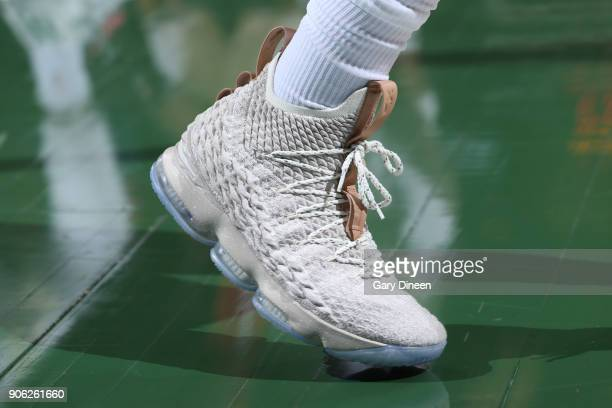 The sneakers of Eric Bledsoe of the Milwaukee Bucks are seen during the game against the Miami Heat on January 17 2018 at the BMO Harris Bradley...