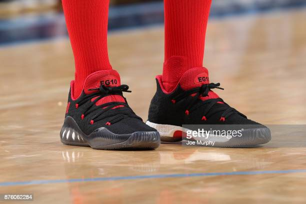 The sneakers of Eric Gordon of the Houston Rockets are seen during the game against the Memphis Grizzlies on November 18 2017 at FedExForum in...