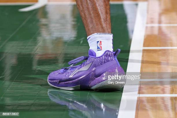 The sneakers of Frank Mason III of the Sacramento Kings during the game against the Milwaukee Bucks on December 2 2017 at the BMO Harris Bradley...