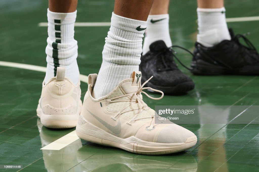 34eb50c8a98f the sneakers of Giannis Antetokounmpo of the Milwaukee Bucks are ...