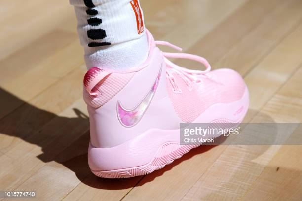 The sneakers of guard Allie Quigley of the Chicago Sky as seen during the game against the Connecticut Sun on August 12 2018 at the Mohegan Sun Arena...