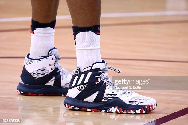 The sneakers of Harrison Barnes of the USA Basketball Men's National Team during practice on July 20 2016 at Mendenhall Center on the University of...
