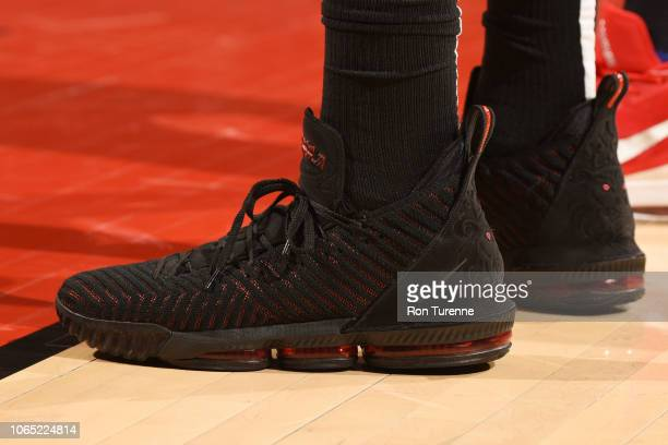 a7abed8e2495 The sneakers of Hassan Whiteside of the Miami Heat during the game against  the Toronto Raptors