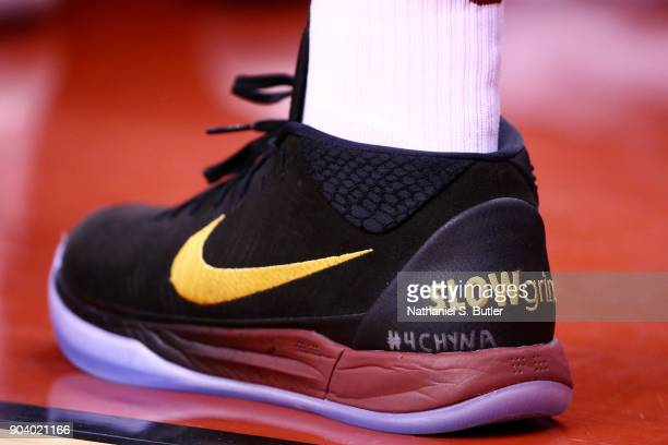 d447dc3009af The sneakers of Isaiah Thomas of the Cleveland Cavaliers are seen during  the game against the