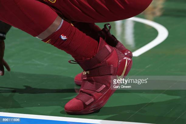 The sneakers of Jae Crowder of the Cleveland Cavaliers during the game against the Milwaukee Bucks on December 19 2017 at the BMO Harris Bradley...