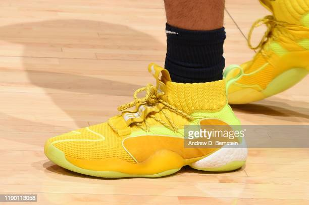 The sneakers of Jamal Murray of the Denver Nuggets during the game against the Los Angeles Lakers on December 22 2019 at STAPLES Center in Los...