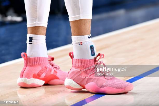The sneakers of Jamal Murray of the Denver Nuggets during the game against the Dallas Mavericks on January 8 2020 at the American Airlines Center in...