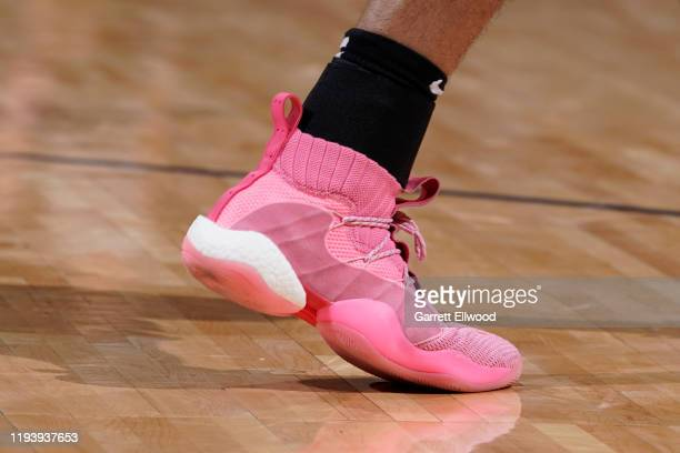 The sneakers of Jamal Murray of the Denver Nuggets during the game against the Charlotte Hornets on January 15 2020 at the Pepsi Center in Denver...