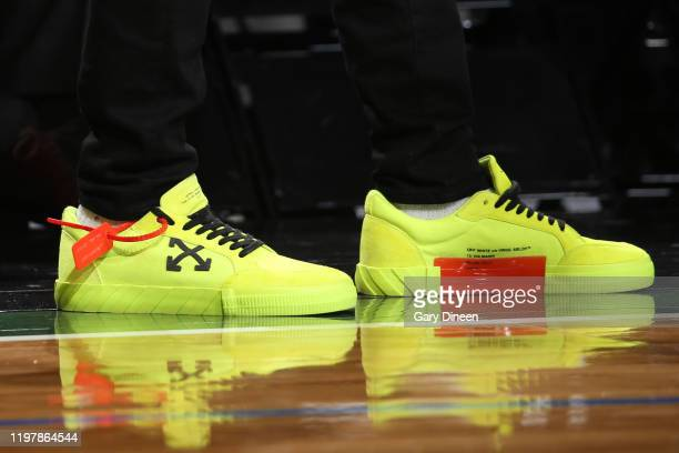 The sneakers of Jamal Murray of the Denver Nuggets during the game against the Milwaukee Bucks on January 31 2020 at the Fiserv Forum Center in...