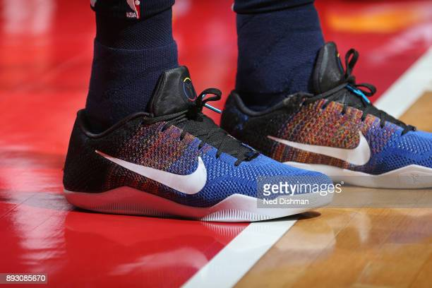 The sneakers of James Ennis III of the Memphis Grizzlies during the game against the Washington Wizards on December 13 2017 at Capital One Arena in...