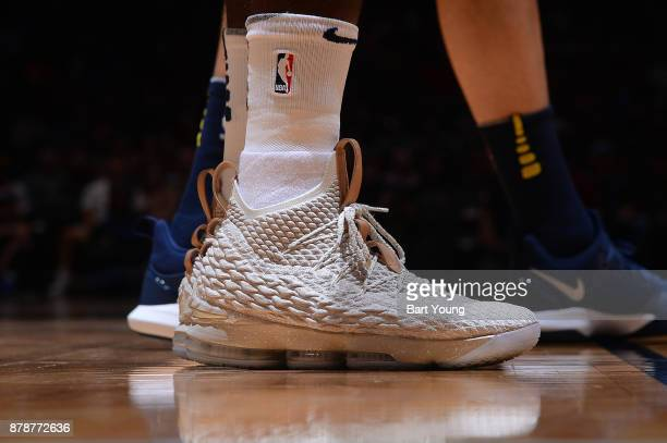 The sneakers of JaMychal Green of the Memphis Grizzlies during the game against the Denver Nuggets on November 24 2017 at the Pepsi Center in Denver...