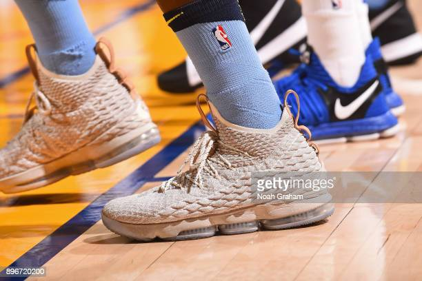 The sneakers of JaMychal Green of the Memphis Grizzlies during the game against the Golden State Warriors on December 20 2017 at ORACLE Arena in...