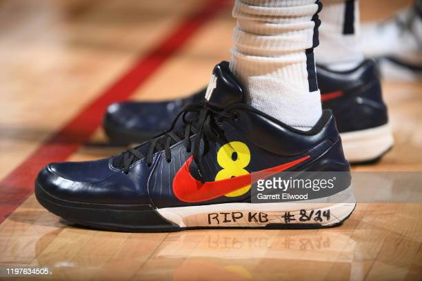 The sneakers of Jarred Vanderbilt of the Denver Nuggets during the game against the Utah Jazz on January 30 2020 at the Pepsi Center in Denver...
