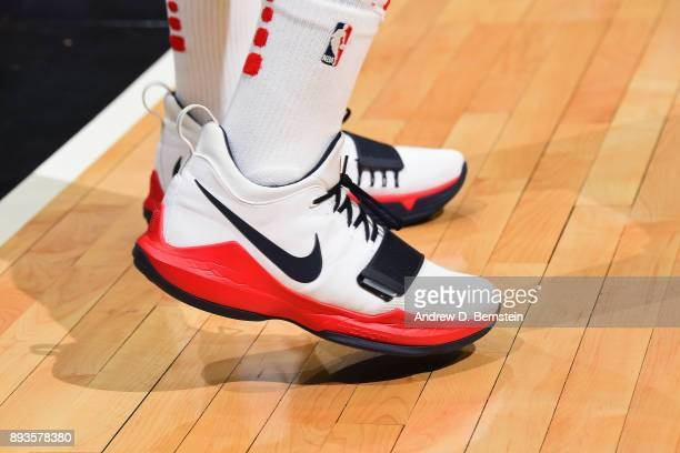 The sneakers of John Wall of the Washington Wizards during the game against the LA Clippers on December 9 2017 at STAPLES Center in Los Angeles...