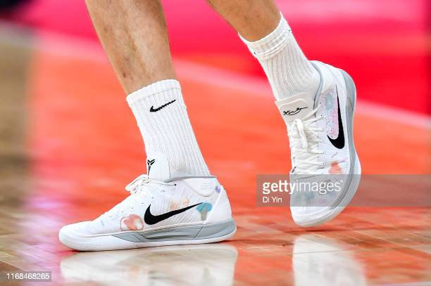 The sneakers of Juancho Hernangomez of Spain during the finals between Argentina and Spain of 2019 FIBA World Cup at the Cadillac Arena on September...