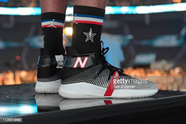 The sneakers of Kawhi Leonard of Team LeBron before the 2019 NBA AllStar Game on February 17 2019 at Spectrum Center in Charlotte North Carolina NOTE...