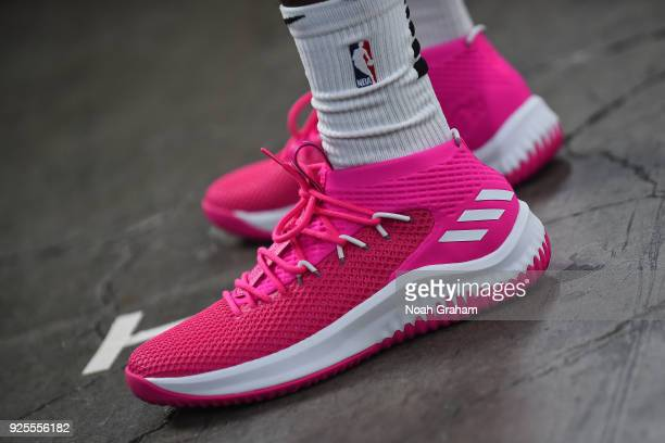 The sneakers of Kris Dunn of the USA Team before the Mtn Dew Kickstart  Rising Stars a42aa85d4