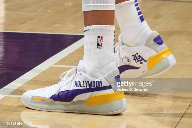 The sneakers of Kyle Kuzma of the Los Angeles Lakers during the game against the Los Angeles Lakers on December 22 2019 at STAPLES Center in Los...
