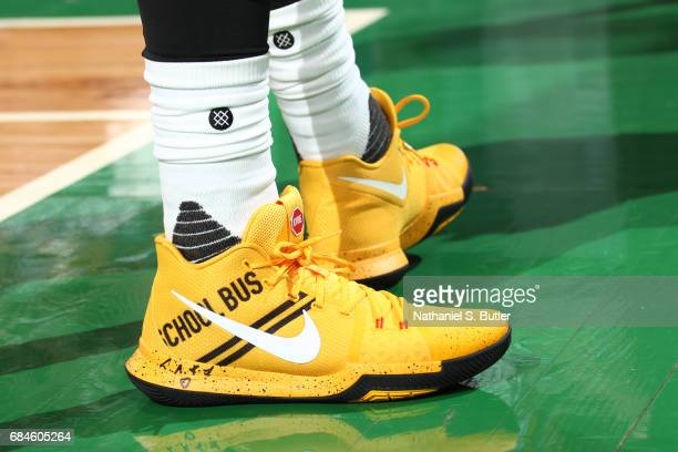 The sneakers of Kyrie Irving of the Cleveland Cavaliers during the game against the Boston Celtics in Game One of the Eastern Conference Finals...