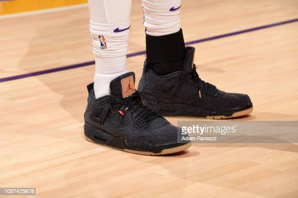 The sneakers of Lance Stephenson of the Los Angeles Lakers before the game against the Toronto Raptors on November 4 2018 at STAPLES Center in Los...