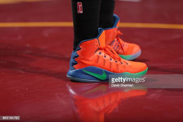 The sneakers of Lindsay Whalen of the Minnesota Lynx are seen during the game against the Los Angeles Sparks in Game One of the 2017 WNBA Finals on...