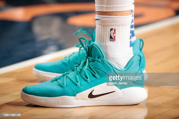 The sneakers of Luka Doncic of the Dallas Mavericks as seen during the game against the Brooklyn Nets on November 21 2018 at the American Airlines...