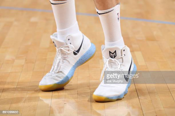 The sneakers of Marc Gasol of the Memphis Grizzlies during the game against the Miami Heat on December 11 2017 at FedExForum in Memphis Tennessee...